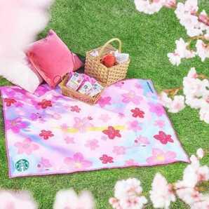【新品】Starbucks スターバックス オリガミ シーズナルコレクション2021スプリング 桜柄マルチクロス(マルチシート)/ネスレ日本