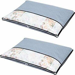 グレー 薄型 2枚 羽毛布団収納 アストロ 羽毛布団 収納袋 2枚 シングル用 グレー 不織布 活性炭消臭 薄型 171-35