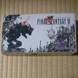 【箱・取説あり】 ファイナルファンタジー6 スーパーファミコンソフト SFC