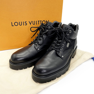 ■ 1円~ 正規品 ■ ルイ ヴィトン Louis Vuitton ■ オーベルカンプフ ライン アンクルブーツ エピ ブラック レザー サイズ 8 (約 27 cm)