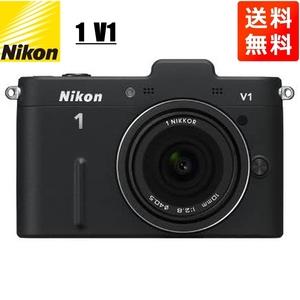 ニコン Nikon 1 V1 10mm 2.8 薄型レンズキット ブラック 単焦点 ミラーレス一眼 カメラ 中古