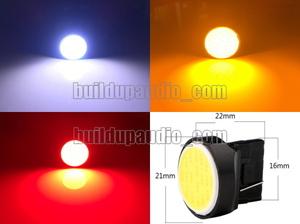 【送料無料】 新品 即決 T20 7440 シングル W3×16D 18chip COB LED 2個セット レッド