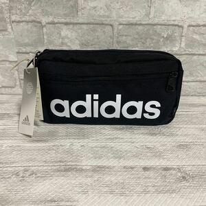 adidas ボディバッグ ウエストポーチ ウエストバッグ     新品!! ブラック