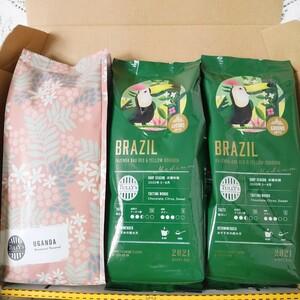 タリーズコーヒー 3点SET ブラジル ウガンダ タリーズ コーヒー豆 粉 カルディ スタバ レギュラーコーヒー