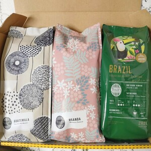 タリーズコーヒー 3点SET ブラジル ウガンダ グァテマラ タリーズ コーヒー豆 粉 カルディ スタバ レギュラーコーヒー