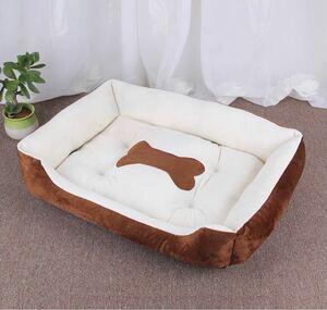 【現品限り】ペットマット 犬 小型犬 猫用 ベッド ブラウン ペットベッド