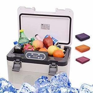 ホワイト HANSHUMY 19L冷蔵庫 -10℃65℃ 冷温庫 2電源式 AC110V家庭用 DC12Vカー用 24Vトラッ