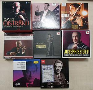 クラシックCD ヴァイオリン 有名バイオリニスト まとめて 8点BOXセット(合計CD85枚)