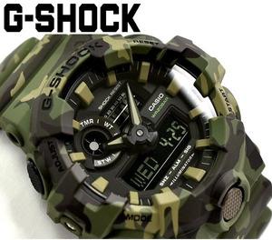 【1円】新品正規CASIOカシオG-SHOCKブラック黒×緑グリーン迷彩カモG-ショック腕時計日本未発売モデルメンズ 新作200Mダイバー腕時計とけい