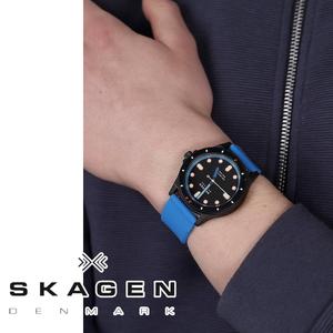 【1円】SKAGENスカーゲンメンズ腕時計FISK フィスク ダイバーアナログクォーツギフトシリコン記念誕生日おすすめブラックブルーおすすめ