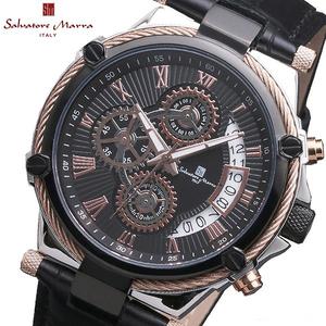 【即決】【高級セームプレゼント】国内新品正規品サルバトーレマーラSalvatore Marraクロノグラフ男性ブランド腕時計