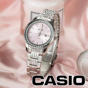 【1円】【新品】 CASIOカシオ腕時計レディースアナログクォーツシルバーカジュアルビジネスピンクシルバープレゼントギフトプレゼント