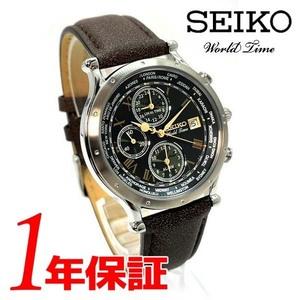 30周年限定モデル【送料無料】SEIKOセイコー腕時計メンズ男性用グリーンシルバーブラウンレザーアナログレトロアンティーククロノグラフ