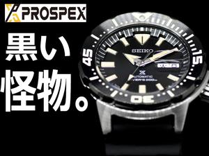 【1円】ブラックモンスター新品セイコーPROSPEXプロスペックスSEIKOダイバースキューバメカニカル自動巻き腕時計メンズMONSTER SRPD27K1