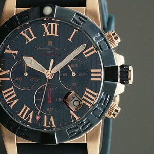 【新品正規品】【Salvatore Marra】サルバトーレマーラ10気圧100m防水クロノグラフウレタンラバーベルトダイバー男性用メンズ腕時計ギフトb