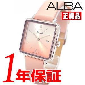 【即決】【高級セームプレゼント】【新品正規品】SEIKOセイコーALBAアルバレディース腕時計ピンクレザーベルトかわいいスクエア
