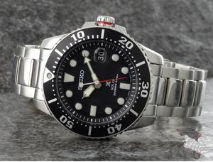 【1円】【日本未発売新入荷】【SEIKO PROSPEX】セイコーソーラー ダイバーズ DIVER's200m防水メンズ腕時計ブラック黒ダイアルプレゼント