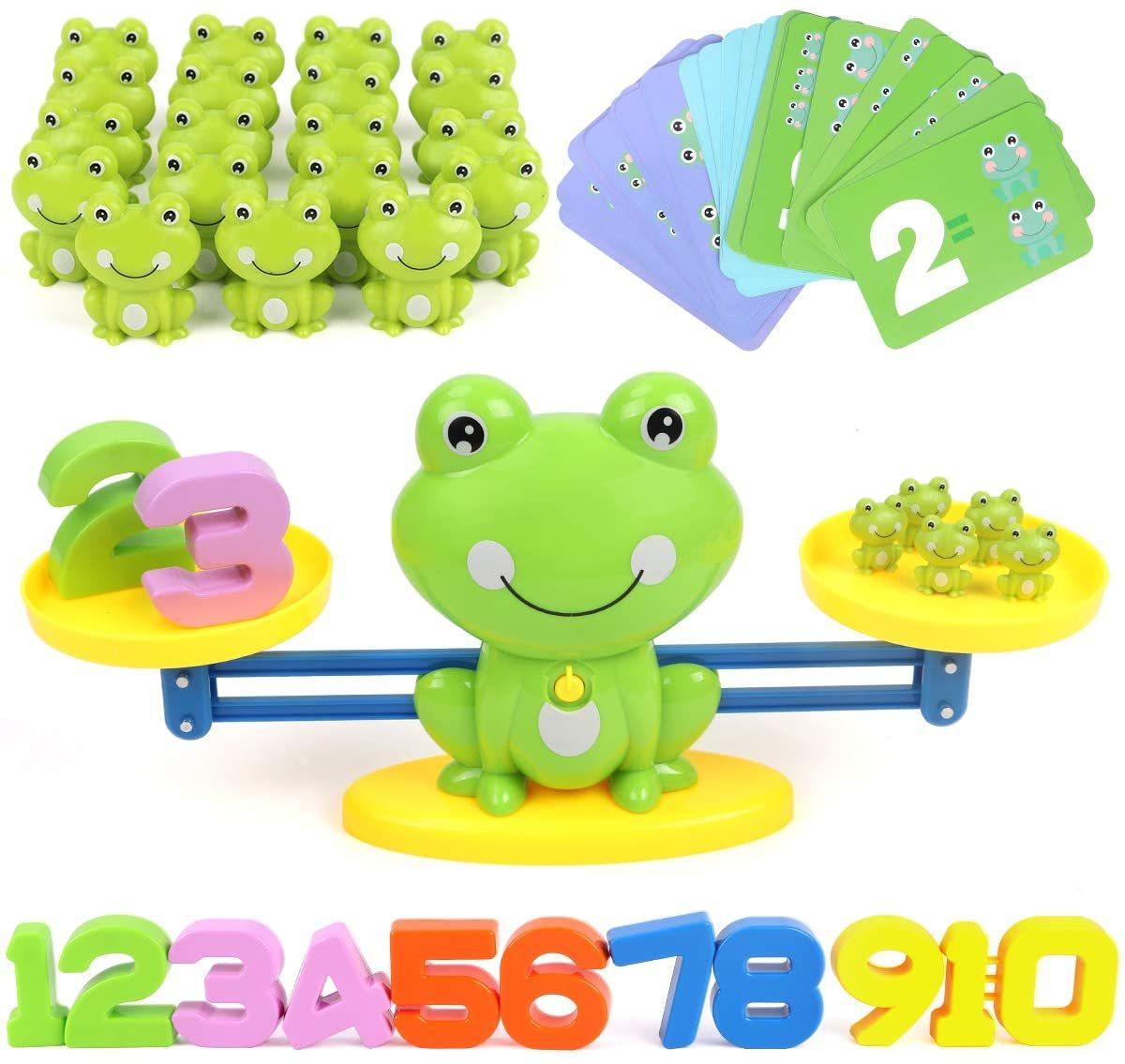 カエル 天秤 知育玩具 おもちゃ 数字の基礎を覚える 算数 足し算 引き算