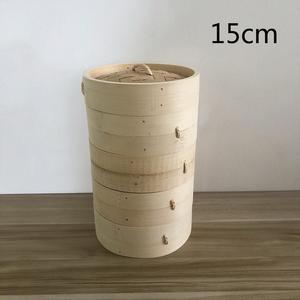 蒸籠 せいろ 四段蓋付 家庭用 業務用 中華蒸し器 竹製 料理器具 本格15cm