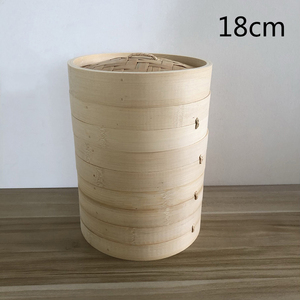 蒸籠 せいろ 四段蓋付 家庭用 業務用 中華蒸し器 竹製 料理器具 本格18cm