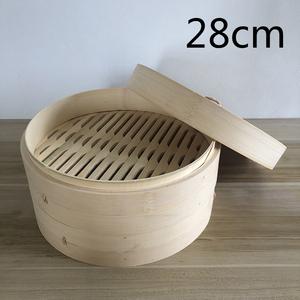 蒸籠 せいろ 二段蓋付 家庭用 業務用 中華蒸し器 竹製 料理器具 本格28cm