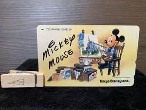 希少【レア】非売品「東京ディズニーランド ミッキーマウス」 50度 テレホンカード テレカ