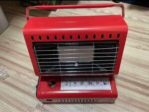 赤ガスヒーターアウトドアヒーターカセットガスストーブ 1台2役 ボンベ式と外接可