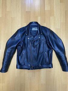 MET'Z ダブルライダース レザージャケット 3L/2ワイド 色ブラック 牛革