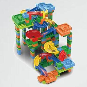 新品 未使用 知育玩具◇自由にコ-スが作れるビ-玉コロコロスライダ-/ブロックスライダ-BIG FK