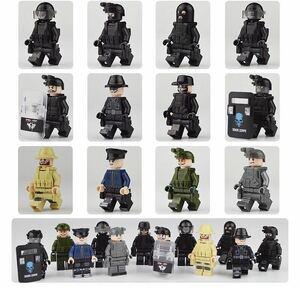 ミニフィグ LEGO 互換 ミニフィギュア レゴ 互換 ブロックミニフィグ 特殊部隊 軍人12体セット