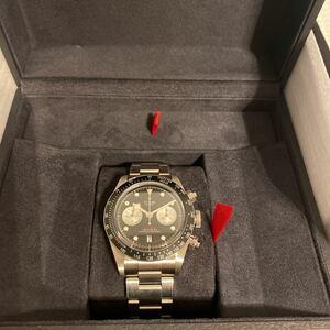 新品未使用 2021年新作 TUDOR Black Bay Chrono ブラック文字盤 チューダー クロノ 腕時計