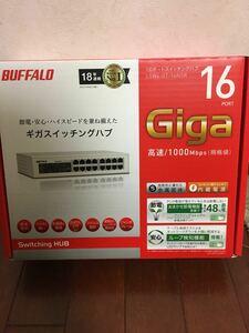 BUFFALO Giga対応 金属筺体 電源内蔵 16ポート ホワイト スイッチングハブ 日本メーカー LSW4-GT-16NSR