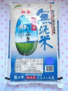 【送料無料】令和3年度産 新米こしいぶき 新潟県産無洗米5キログラム×24