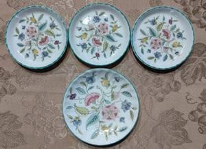ミントン ハドンホール グリーン ミニプレート 小皿4枚セット(9cmグリーン3枚、11㎝グリーン200周年記念1枚)