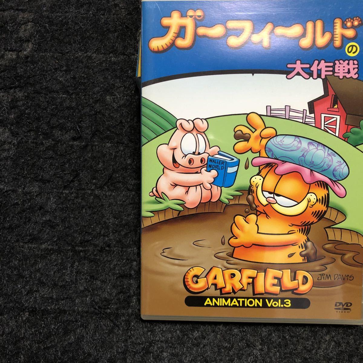 GARFIELD DVD 定形外郵便料金込み!!ガ-フィ-ルドの大作戦 ガ-フィ-ルドの家出 JIM Davis