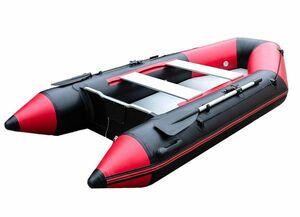 ◆V型船底 船底補強仕様◆長さ3m 幅ワイド1.5m仕様のパワーボート 4人乗り 赤!船外機装着も可!フィッシング ゴムボート インフレータブル