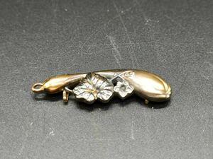 帯留め 帯締め k18 18金 約2.8g 約95cm 花模様 彫刻 和装 着物 小物 帯留め 帯締め K18