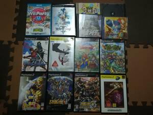 【まとめて処分】PS/PS2/WiiU  ケース、説明書、DVDなど 14本