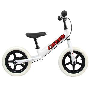 キッズバイク キックバイク 3歳~ 子供用自転車 バランスバイク ブレーキ付 ペダル無し 幼児 おもちゃ ホワイト×レッド