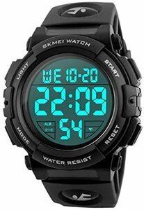 限定価格!Timever(タイムエバー)デジタル腕時計 メンズ 防水腕時計 led watch スポーツウォッチ アラームM7YP