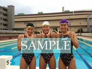 S43 生写真 水泳 水着 スク水 競泳水着 女子 L判 L版 女子アスリート 高画質 グラビア スポーツ