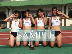 R188 生写真 レーシングブルマ 女子 陸上 L判 L版 女子アスリート 高画質 グラビア スポーツ