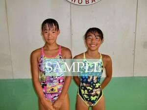 S74 生写真 水泳 水着 スク水 競泳水着 女子 L判 L版 女子アスリート 高画質 グラビア スポーツ