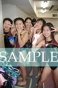 S69 生写真 水泳 水着 スク水 競泳水着 女子 L判 L版 女子アスリート 高画質 グラビア スポーツ