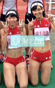R43 生写真 レーシングブルマ 女子 陸上 L判 L版 女子アスリート 高画質 グラビア スポーツ