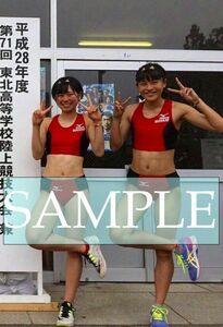R205 生写真 レーシングブルマ 女子 陸上 L判 L版 女子アスリート 高画質 グラビア スポーツ