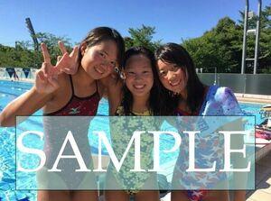 S53 生写真 水泳 水着 スク水 競泳水着 女子 L判 L版 女子アスリート 高画質 グラビア スポーツ