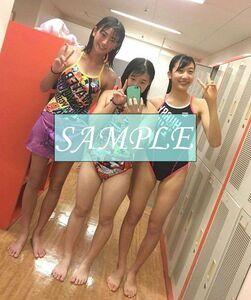 S6 生写真 水泳 水着 スク水 競泳水着 女子 L判 L版 女子アスリート 高画質 グラビア スポーツ