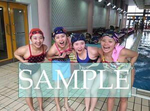 S52 生写真 水泳 水着 スク水 競泳水着 女子 L判 L版 女子アスリート 高画質 グラビア スポーツ