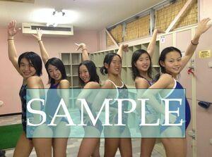 S47 生写真 水泳 水着 スク水 競泳水着 女子 L判 L版 女子アスリート 高画質 グラビア スポーツ